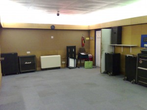 This image gives you an idea of the size of our rehearsal room, it has since been refurbished. I will update the picture soon.
